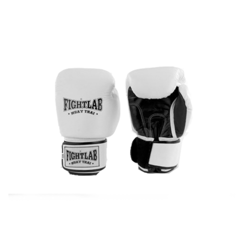 MUAY THAI MMA K1 FIGHTLAB CLASSIC THAI BOXING GLOVES -White
