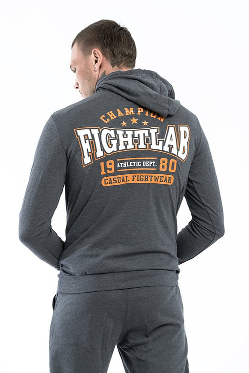 "MUAY THAI MMA K1 FIGHTLAB ""CHAMPION"" TRACKSUIT HOODY - dark grey"