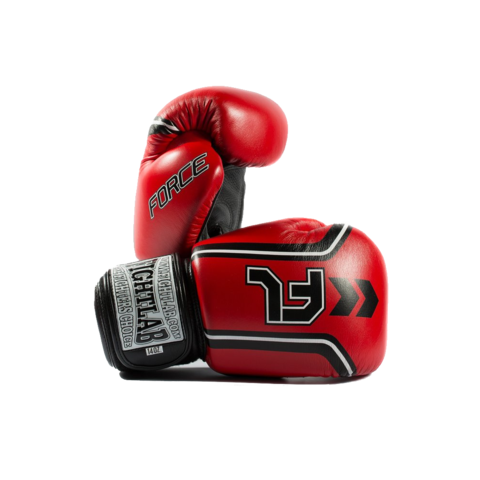 "MUAY THAI MMA K1 FIGHTLAB ""FORCE"" DESIGN THAI BOXING GLOVES - Red"
