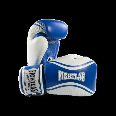 """MUAY THAI MMA K1 FIGHTLAB """"FLOW"""" DESIGN THAI BOXING GLOVES - Blue/White"""