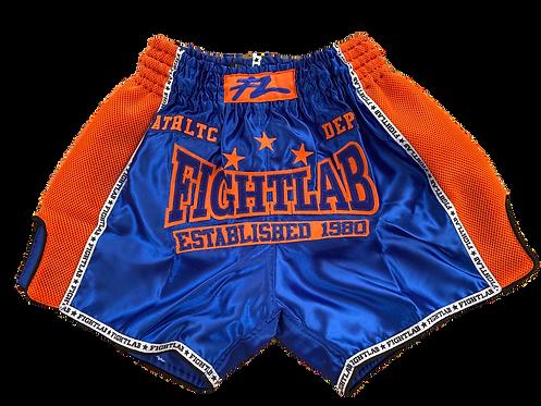 "MUAY THAI MMA K1 FIGHTLAB ""CLASSICS"" THAI BOXING SHORTS - BLUE"