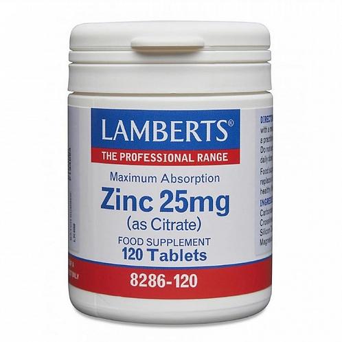 Lamberts Zinc 25mg (as citrate) 120 tabs