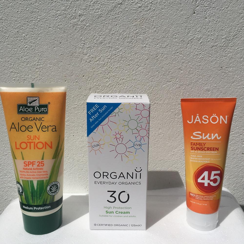 summer sun cream