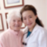 Dr. Kessy Lee with her patient.