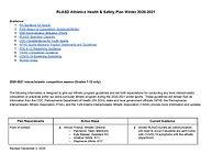 RLASD Athletics Revised 2020-2021 Health