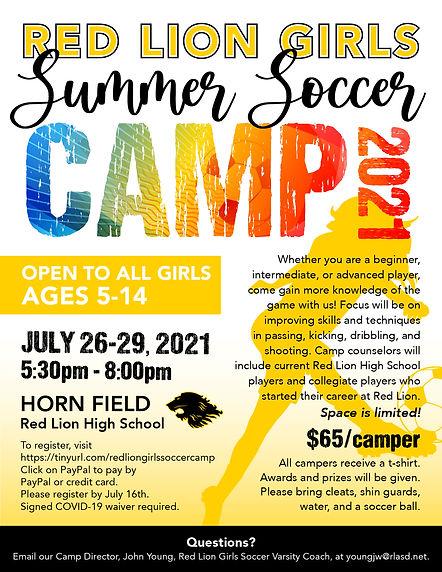 red lion Girls Soccer youth camp.JPG