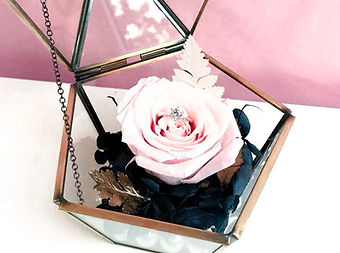 Anniversary rose preserved eternal flower jewelry box ring holder