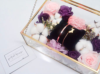 Anniversary rose preserved eternal flower dome jewelry box
