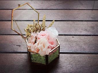 Anniversary rose preserved eternal flower dome jar wedding box