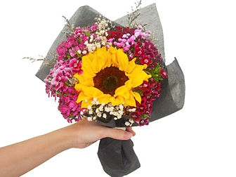 sweet williasunflower bouquet affordable singapore