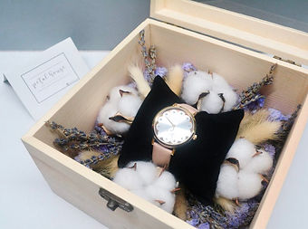 Anniversary rose preserved eternal flower dome jar watch gift box