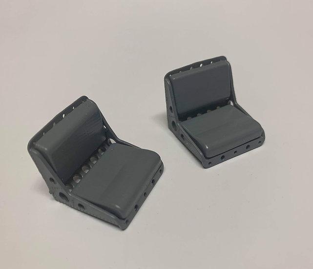 Custom bucks seats in a pair seperate cushions