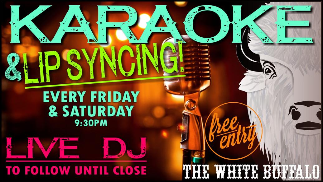 Karaoke at the White Buff!