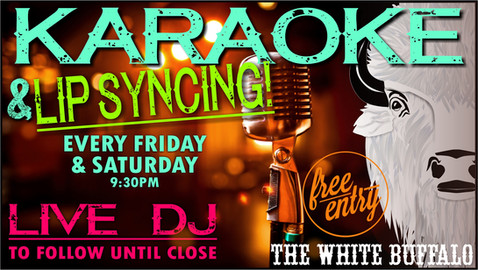 Karaoke at the White Buff!
