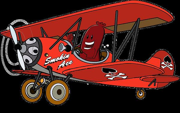 Smokin' Ace Logo Flying Sausage