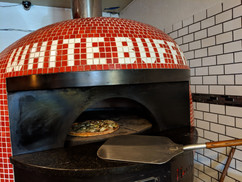White Buff Pizza Oven