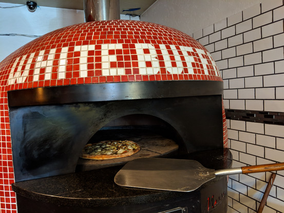 White Buff Pizza Oven