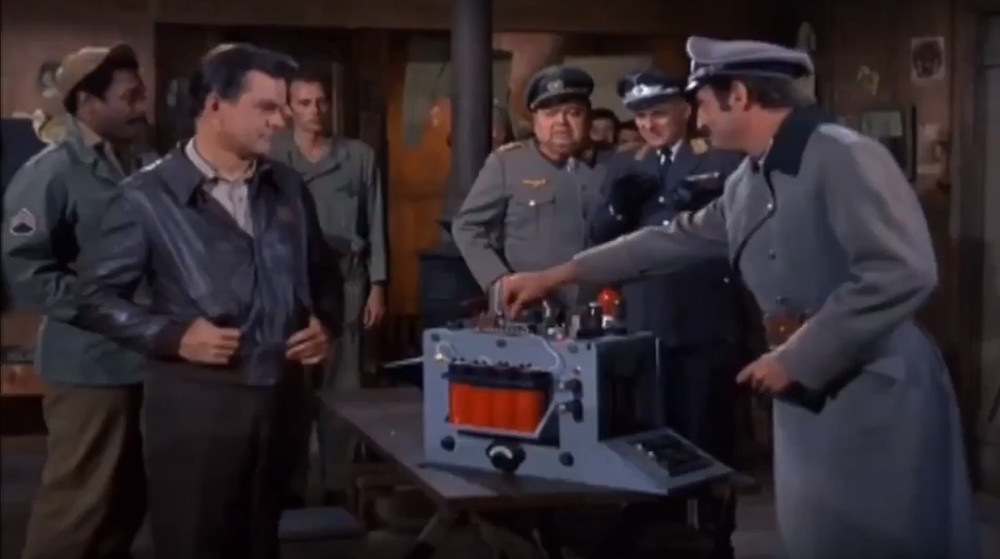 The Germans can't believe Hogan has gotten his hands on a gonculator!
