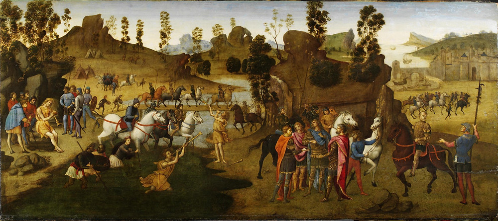 Julius Caesar Crossing the Rubicon. By Francesco Granacci (1469-1543) © Victoria and Albert Museum, London