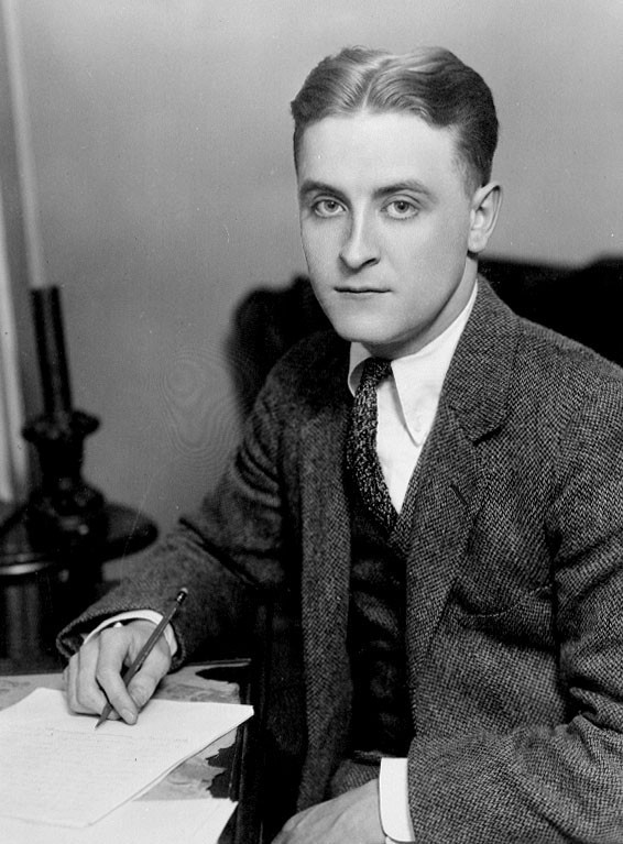 F. Scott Fitzgerald is literally holding a #2 pencil in his right hand in this photo from 1921.