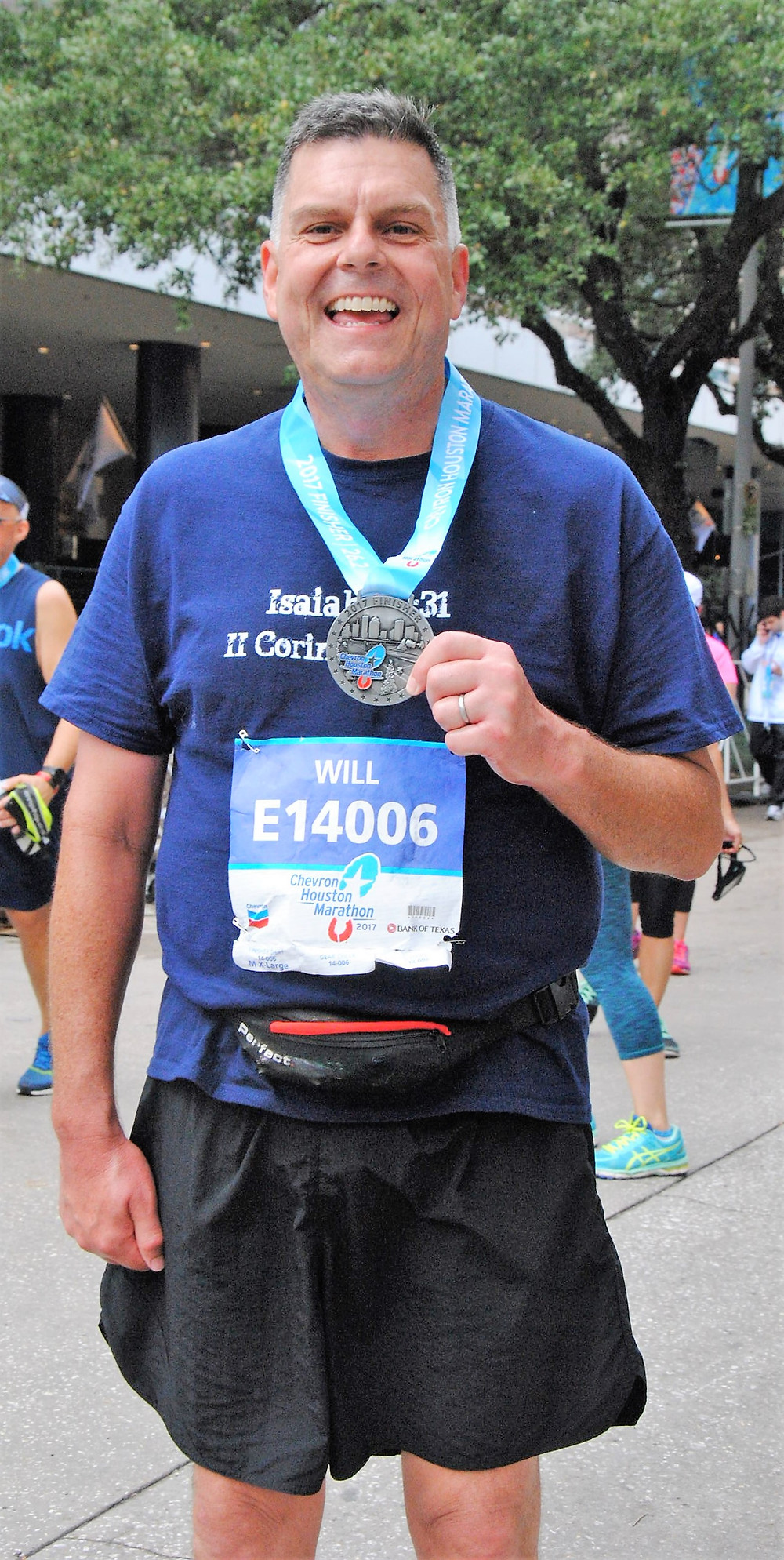 Chock full of soothing endorphins after completing the 2017 Houston Marathon.