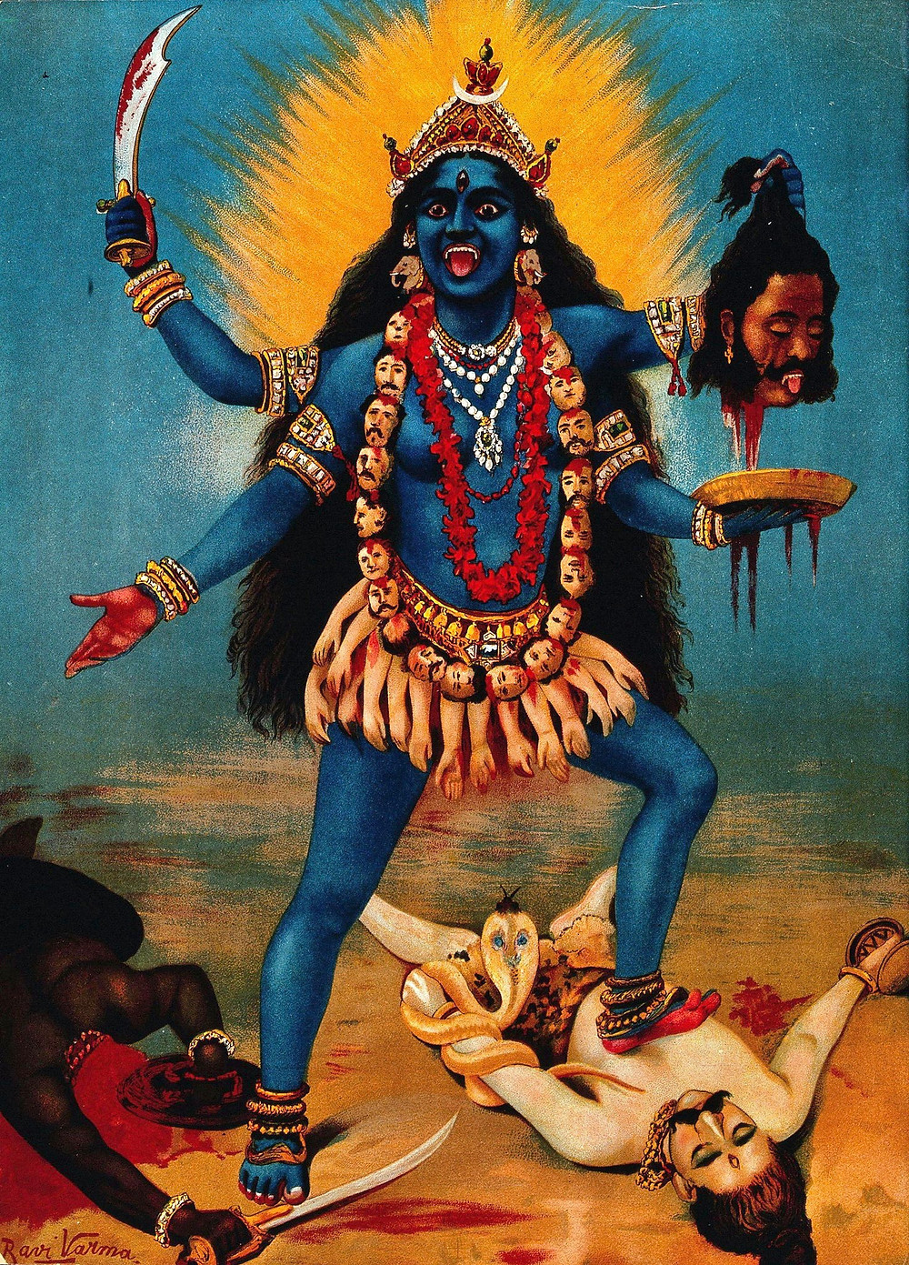 The Darkness appears in many forms. Here she is as the Hindu goddess, Kali.