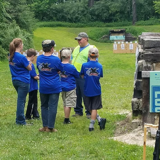 Mayberry YHEC getting their directions at the rifle competition
