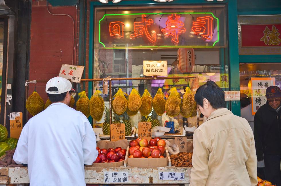 Jackfruits and Durians