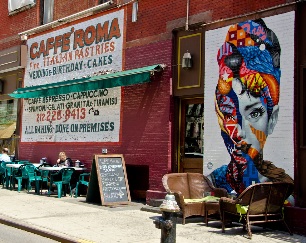 A coffee in little Italy