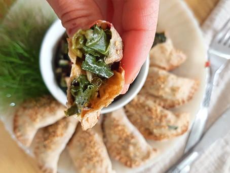 סמבוסק פריך מקמח מלא, במילוי ירוק עונתי
