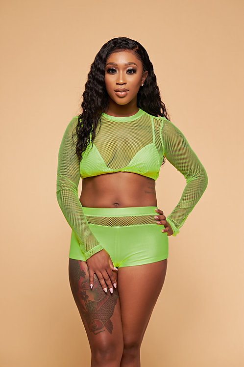 Lime Bodied Set