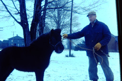 Carl Lisk and one of the ponies.