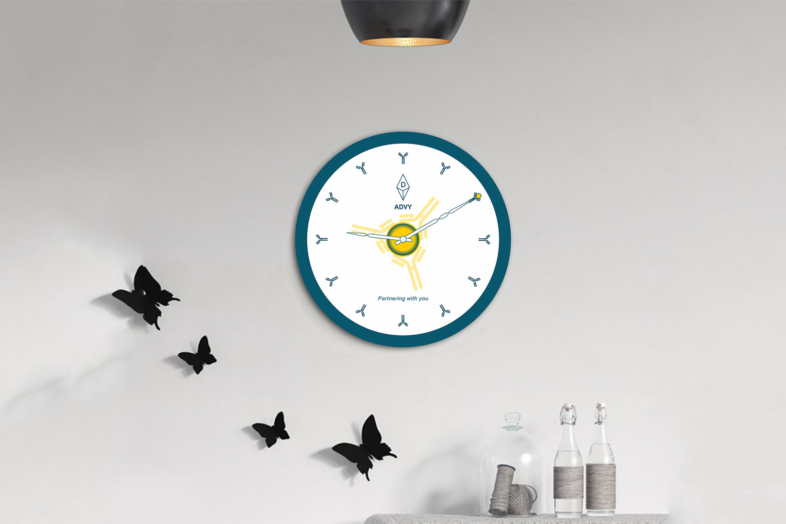 Advy Branding On Wall Clock