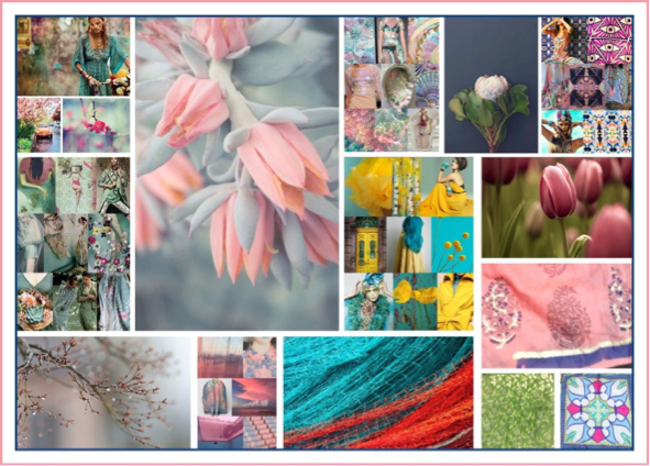 A Contemporary Mood Board for Colours based on Seasons