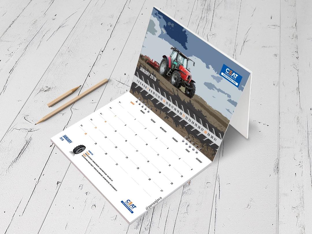 Ceat International OTR Desk Calendar 1