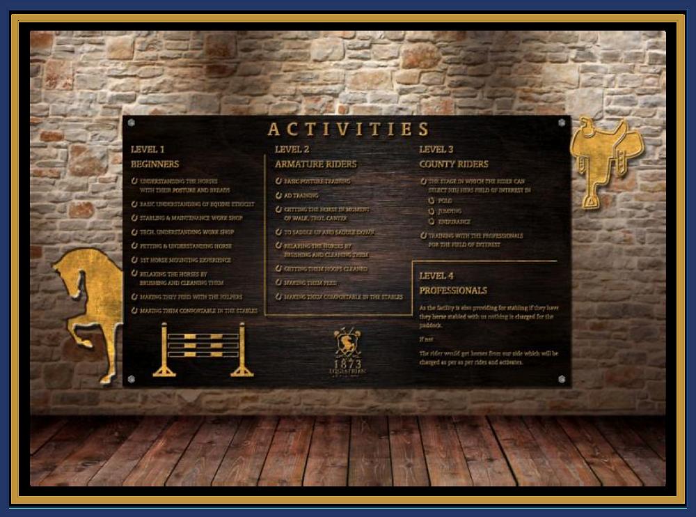 Equestrian Activity Board