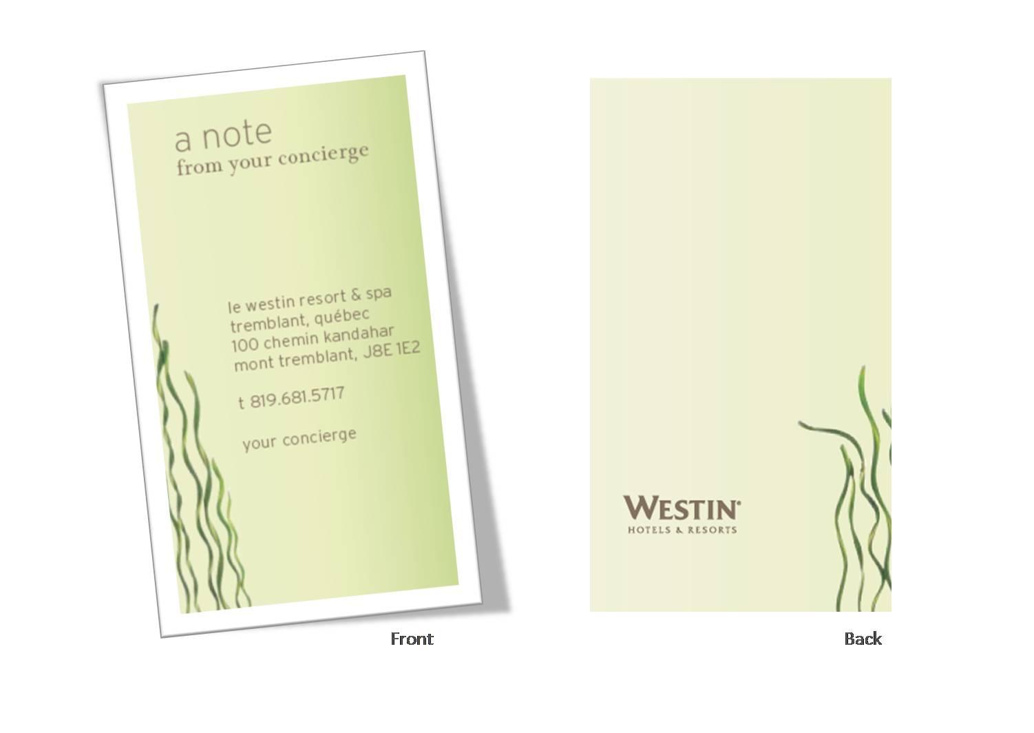 Concierge Card