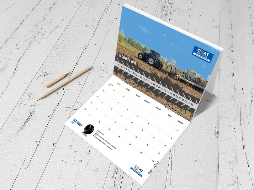 Ceat International OTR Desk Calendar 4