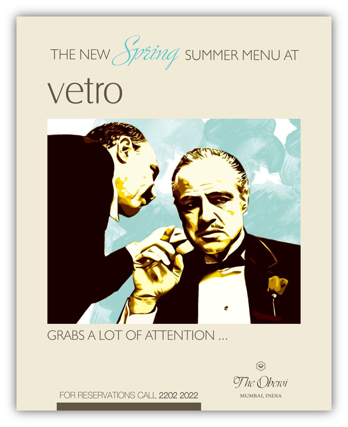 GodFather Inspired Theme Advert for Vetro Oberoi