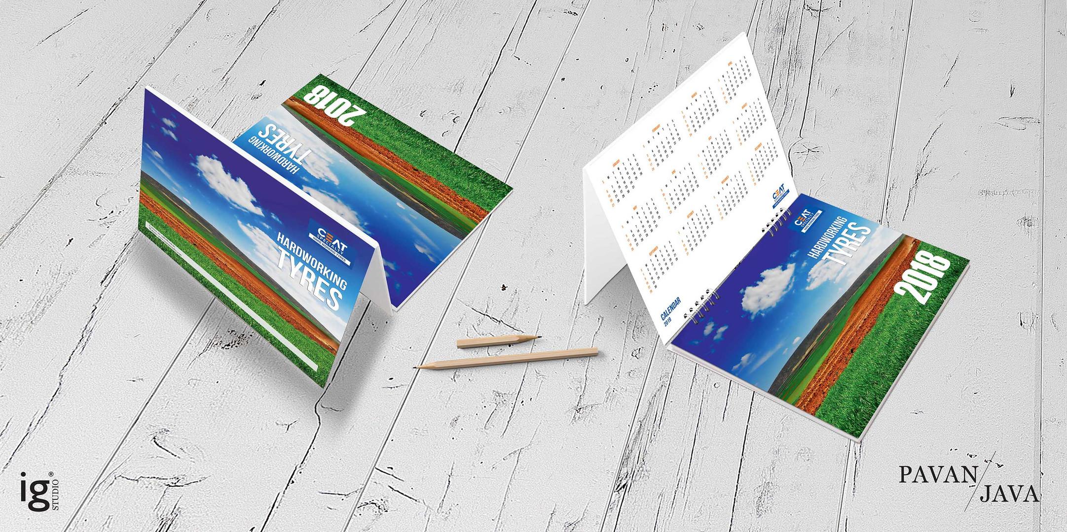 Ceat International OTR Desk Calendar