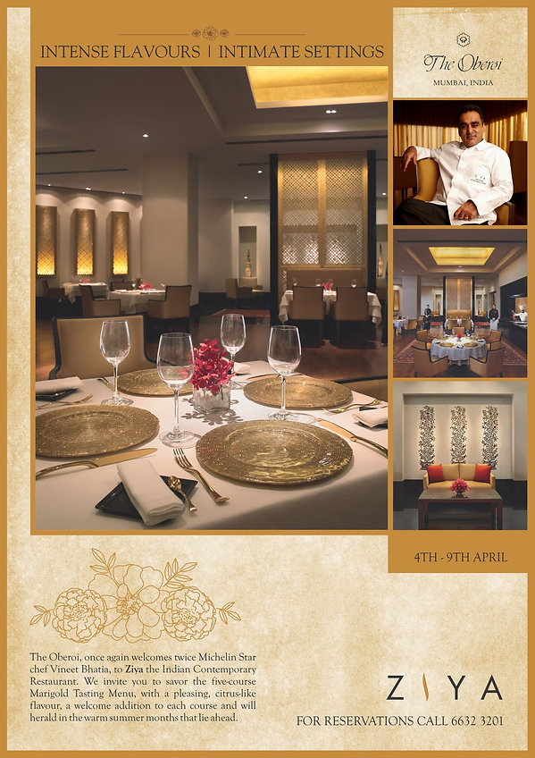 Oberoi Hotels Ziya Print Advertisement