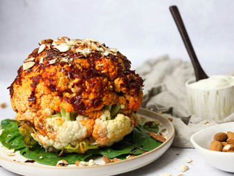 Rose Harissa Roasted Cauliflower