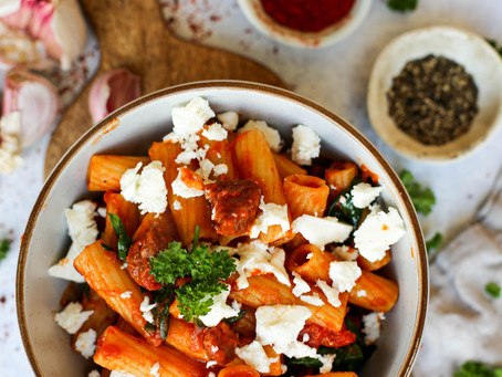 Chorizo and Feta Rigatoni