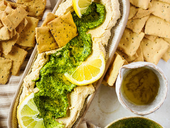 Wild Garlic Pesto Hummus