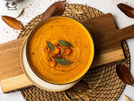 Honey Roasted Squash and Carrot Soup