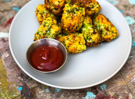 Cauliflower and Broccoli 'no tater' Tots