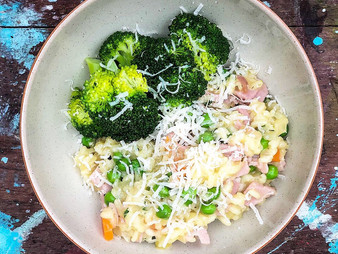Ham and Pea Risotto