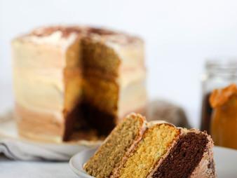 Chocolate Coffee Caramel Cake