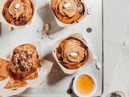 Chocolate Peanut Butter Banana Muffins (healthier)