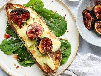 Brie and Honey Figs on Sourdough
